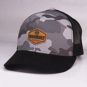 Maui Built Hex Patch Grey Camo Meshback Cap