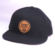 Load image into Gallery viewer, Maui Built Circle Patch Black Snapback Cap