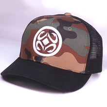 Load image into Gallery viewer, Maui Built Circle Logo Embroidery Camo Meshback Cap
