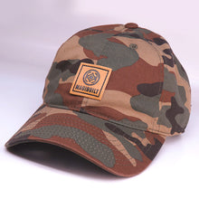Load image into Gallery viewer, Maui Built Square Patch Green Camo Buckle Back Cap