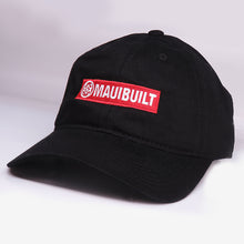 Load image into Gallery viewer, Maui Built Red Bar Black Buckle Back Cap