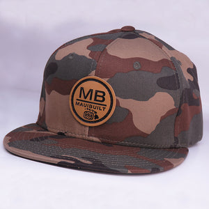 Maui Built Circle Patch Camo Snapback Cap