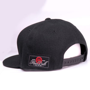 Maui Built Circle Patch Black Snapback Cap