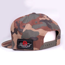 Load image into Gallery viewer, Maui Built Raised Embroidery Camo Snapback Cap
