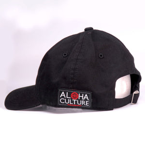 Maui Built Square Patch Black Buckle Back Cap