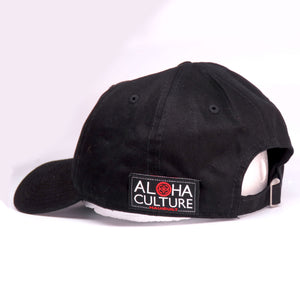 Maui Built Red Bar Black Buckle Back Cap