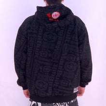 Load image into Gallery viewer, Maui Built Red Bar Logo Zippered Fleece Hoody