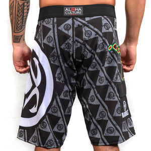 Maui Built Logo Rasta Islands Board Short