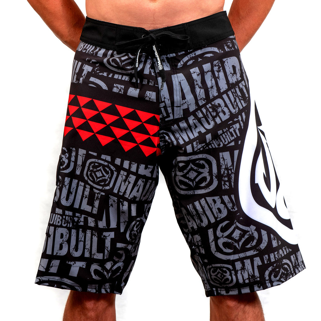 Maui Built Logo Tribal Board Short