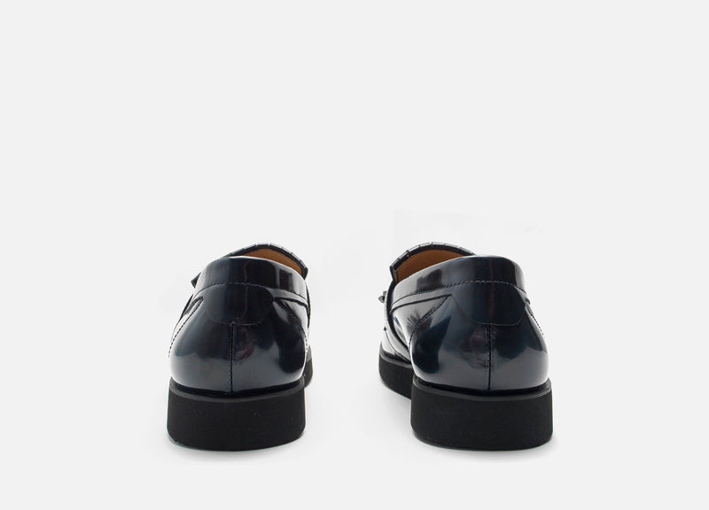 Navy Modern Leather Loafer