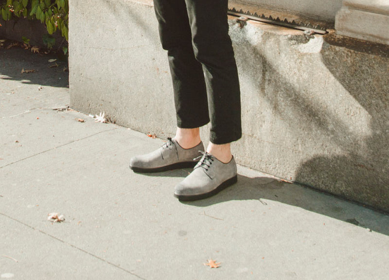 Grey Modern Creeper Shoe On Foot