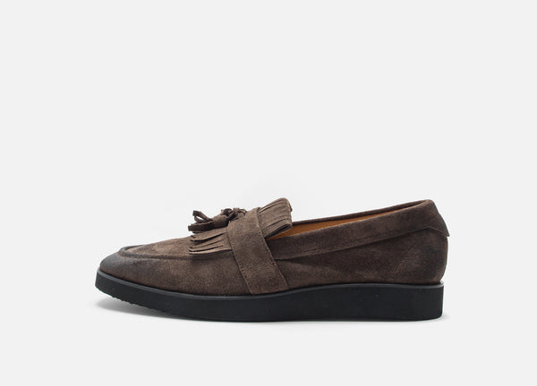 Brown Modern Suede Loafer