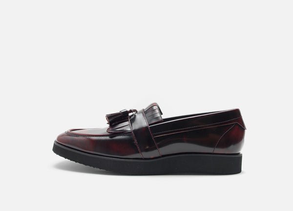 Red Modern Leather Loafer