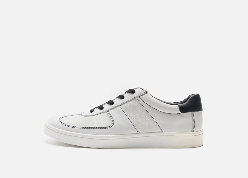 White Leather Casual Shoe