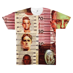 Texas Outlaw Press Mugshot 001 Unisex AOP Sublimation Tee