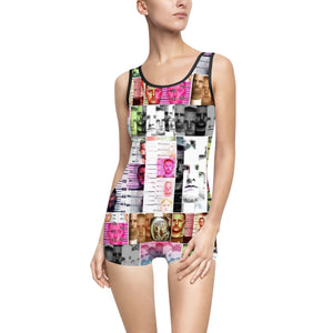 Texas Outlaw Press Mugshot 003 Women's Vintage Swimsuit