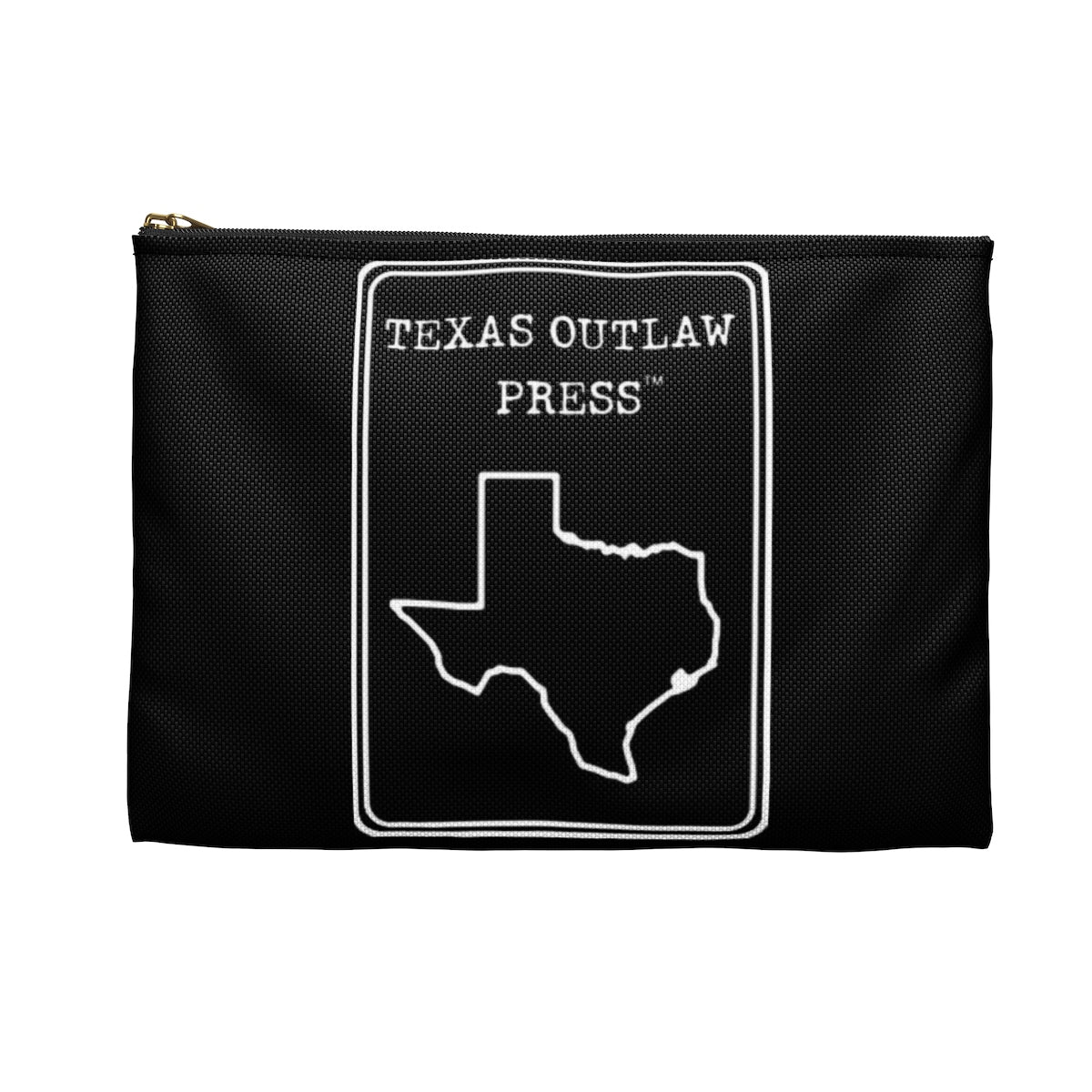 Texas Outlaw Press Black Logo Accessory Pouch