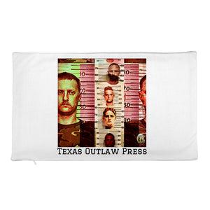 Texas Outlaw Press Mugshot 001 Rectangular Pillow Case only