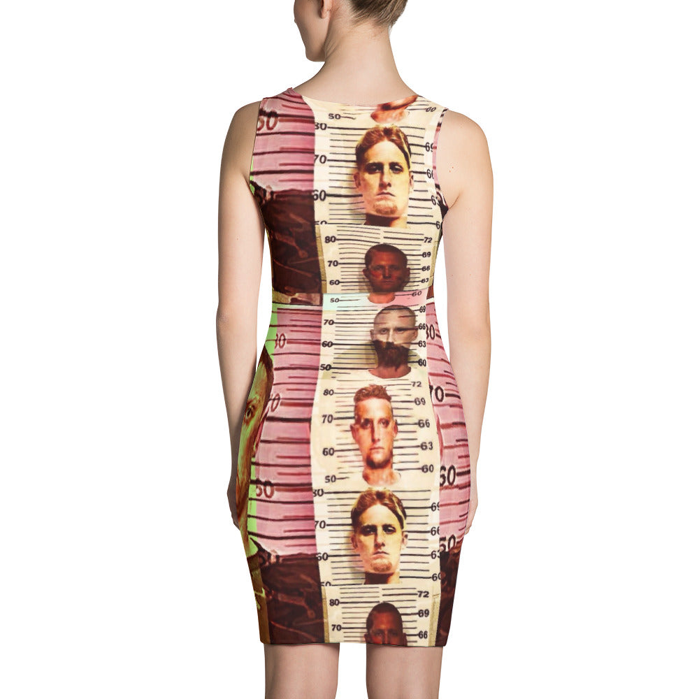 Texas Outlaw Press Mugshot 001 Sublimation Cut & Sew Dress