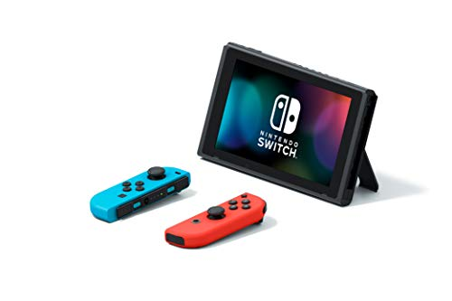Nintendo Switch with Neon Blue and Neon Red JoyCon