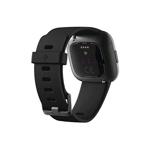 Fitbit Health and Fitness Smartwatch with Heart Rate, Music, Alexa Built-In, Sleep and Swim Tracking, Black/Carbon