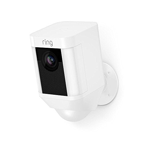 Ring Spotlight HD Security Camera with Built Two-Way Talk and a Siren Alarm, Works with Alexa