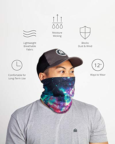Neck Gaiter Face Cover Scarf, Breathable Gator Face Mask Cooling Bandana