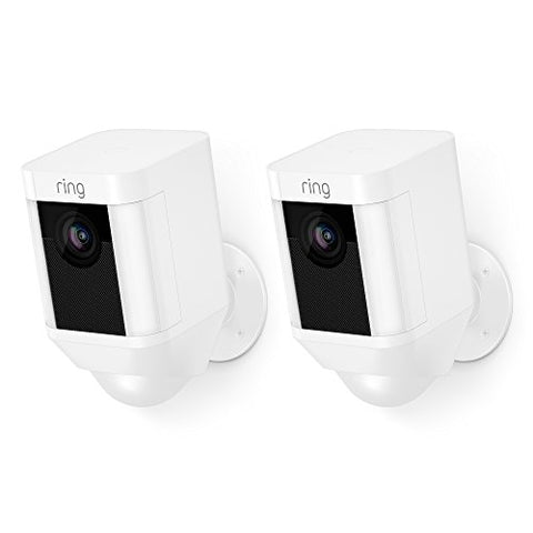 Ring Spotlight Camera Battery HD Security Camera with Built Two-Way Talk and a Siren Alarm, Works with Alexa - 2-Pack
