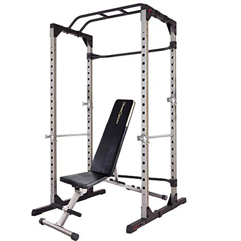 Fitness Weight Lifting Power Cage with Weight Bench Combo