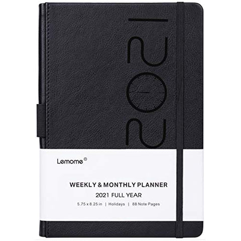 2021 Planner - Weekly, Monthly and Year Planner with Pen Loop