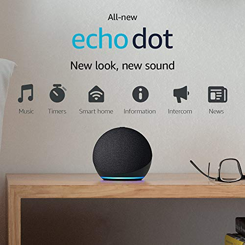 Amazon Echo Dot (4th Gen, 2020 release), Smart speaker with Alexa