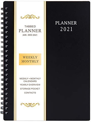 2021 Planner - Weekly & Monthly Planner with Flexible Cover