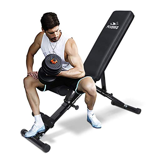 Weight Bench, Adjustable Strength Training Bench for Full Body Workout