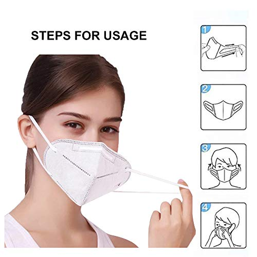 KN95 5-Ply Face Mask with Elastic Ear Loop (5 Count)