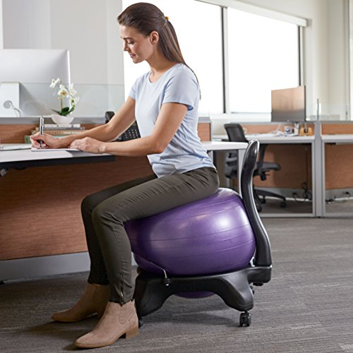 Classic Balance Ball Chair Exercise Stability Yoga Ball