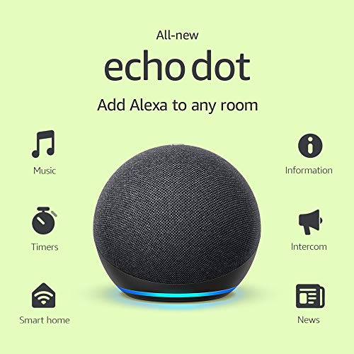 All-new Amazon Echo Dot (4th Gen, 2020 release) | Smart speaker with Alexa | Charcoal