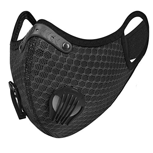 Breathable Face Mask with Valves Ventilated Sports and Fitness Masks for Men and Women