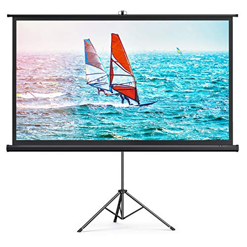 TaoTronics Projector Screen with Stand - 4K HD 100'' 16: 9 Wrinkle-Free Design