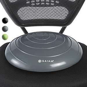 Gaiam Balance Disc Wobble Cushion Stability Core Trainer for Home or Office Desk Chair Wiggly Seat