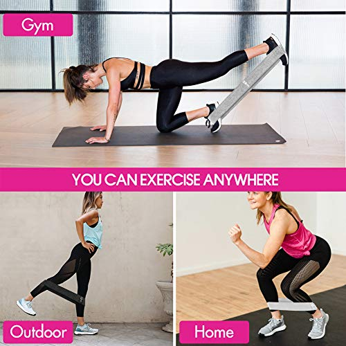 Resistance Bands - 3 Set for Legs, Squats, Glutes, Hips, Thighs Fitness Workout Training