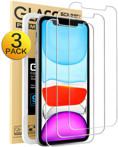 Mkeke iPhone Screen Protector, Compatible with iPhone XR and iPhone 11 (3-Pack)
