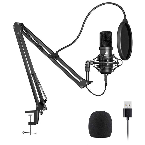 USB Microphone Kit With Condenser Microphone for Podcasting, PC, Karaoke, YouTube, Gaming and Recording