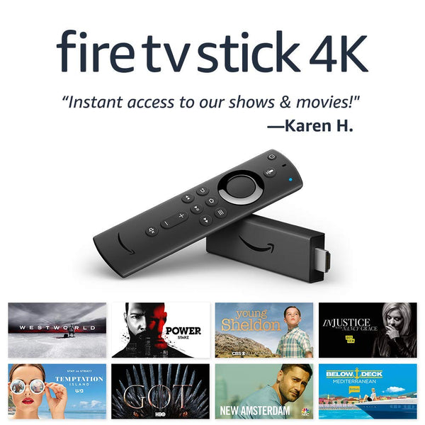 Fire TV Stick 4K Streaming Device with Alexa - Includes Alexa Voice Remote