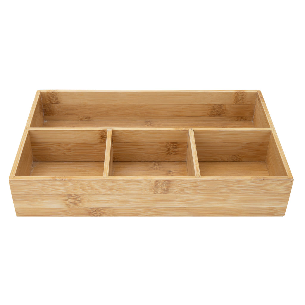 4 Compartment Bamboo Organizer