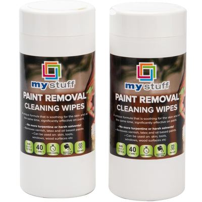 My Stuff Non-Toxic Paint Removal Cleaning Wipes, 40-ct, (Pack of 2)
