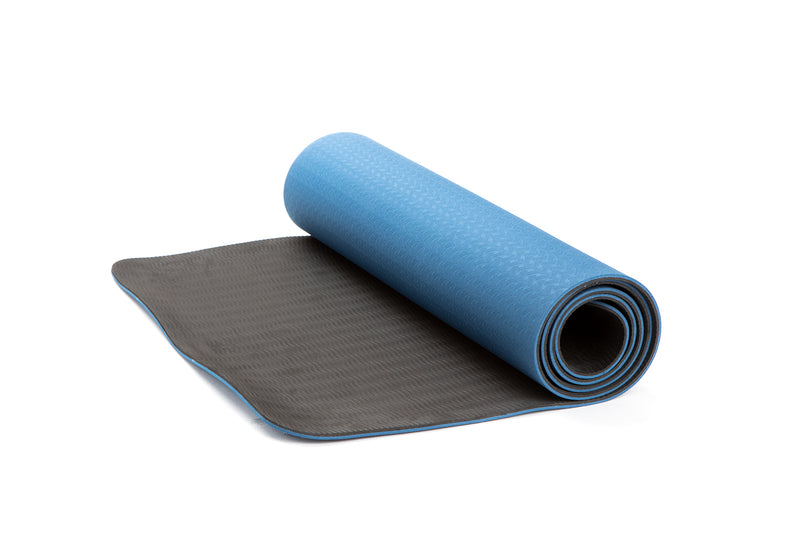 Classic 1/4 inch Pro Yoga Mat Eco Friendly Non Slip Fitness Exercise Mat, Two Tone Workout Mat for Yoga, Pilates and Floor Exercises, Premium TPE Material