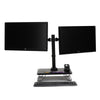 Mind Reader Dual LCD LED Monitor Desk Mount Stand, Heavy Duty Fully Adjustable Arms Hold 2 Screens up to 27 inches