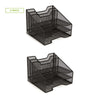 Mind Reader Mesh Desk Organizer 5 Trays Desktop Document Letter Tray - 2 Pack