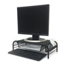 Mind Reader Metal Mesh Monitor Stand and Desk Organizer with Drawer, Monitor Riser, 2 Pack