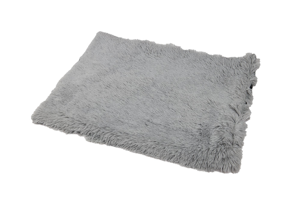 Mind Reader Luxury Faux Fur Dog Blanket, Grey